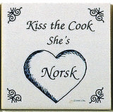 Norwegian Culture Magnet Tile (Kiss Norsk Cook) - ScandinavianGiftOutlet  - 1