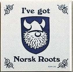 Norwegian Culture Magnet Tile (Norsk Roots) - ScandinavianGiftOutlet
