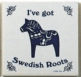 Swedish Culture Magnet Tile (Swedish Roots) - ScandinavianGiftOutlet