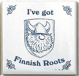 Finnish Culture Magnet Tile (Finnish Roots) - ScandinavianGiftOutlet