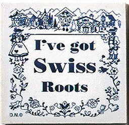 Swiss Culture Magnet Tile (Swiss Roots) - ScandinavianGiftOutlet