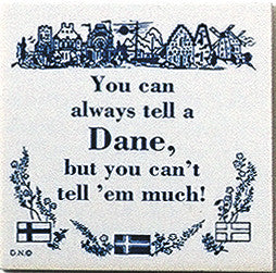 Danish Culture Magnet Tile (Tell A Dane) - ScandinavianGiftOutlet  - 1