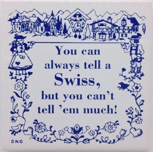 Swiss Culture Magnet Tile (Tell A Swiss) - ScandinavianGiftOutlet