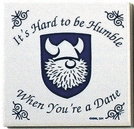 Danish Culture Magnet Tile (Humble Dane) - ScandinavianGiftOutlet  - 1