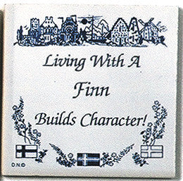 Finnish Culture Magnet Tile (Living With Finn) - ScandinavianGiftOutlet