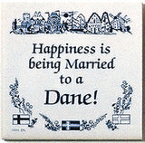 Danish Culture Magnet Tile (Happily Married Dane) - ScandinavianGiftOutlet