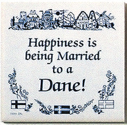 Danish Culture Magnet Tile (Happily Married Dane) - ScandinavianGiftOutlet  - 1