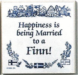 Finnish Culture Magnet Tile (Happily Married Finn) - ScandinavianGiftOutlet  - 1