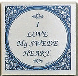 Swedish Culture Magnet Tile (Love My Swede Heart) - ScandinavianGiftOutlet