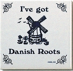Danish Culture Magnet Tile (Danish Roots) - ScandinavianGiftOutlet  - 1