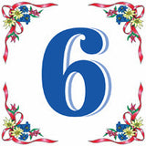 German House Numbers Tile - ScandinavianGiftOutlet  - 6