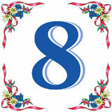 German House Numbers Tile - ScandinavianGiftOutlet  - 8