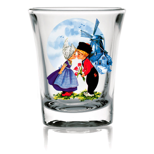 Dutch Shot Glass: Dutch Kiss Clear - ScandinavianGiftOutlet