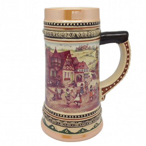 German Beer Stein Village Dancers - ScandinavianGiftOutlet  - 1