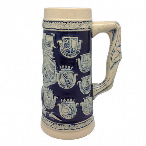 German Stein Coats of Arms Engraved no/Lid - ScandinavianGiftOutlet