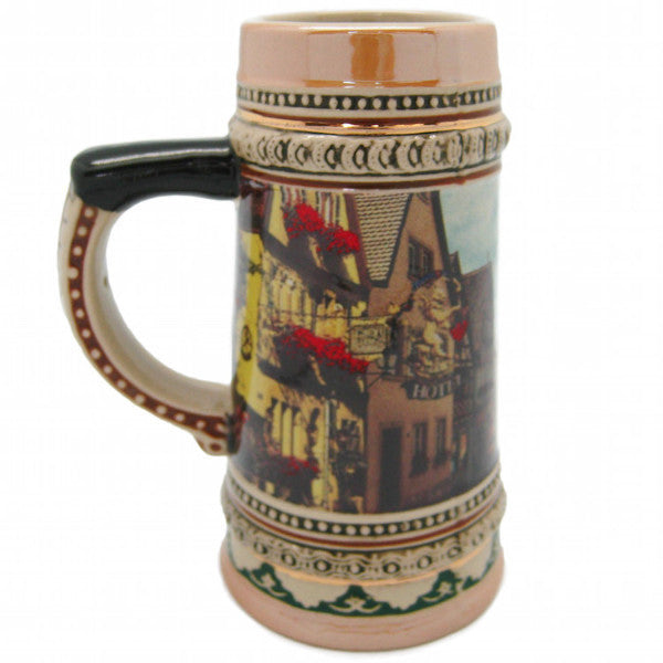 Ceramic Beer Stein German Village Scene - ScandinavianGiftOutlet