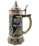 Beer Brewing Collectible .85L Beer Stein with Etched Lid - ScandinavianGiftOutlet
