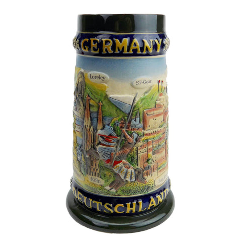 German Legends Stein without Lid - ScandinavianGiftOutlet
