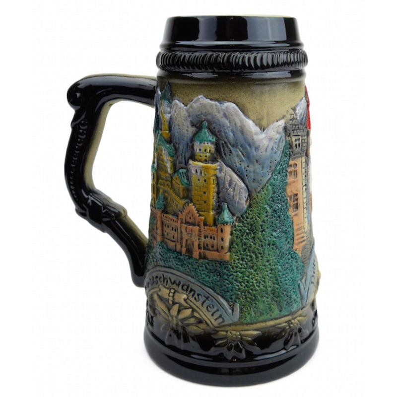 Mountain Village Beer Stein without Lid - ScandinavianGiftOutlet