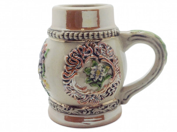 Engraved Beer Stein: Alpine Flowers Shot - ScandinavianGiftOutlet  - 1