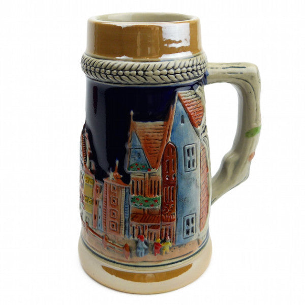 German Village Beer Stein without Lid - ScandinavianGiftOutlet  - 1