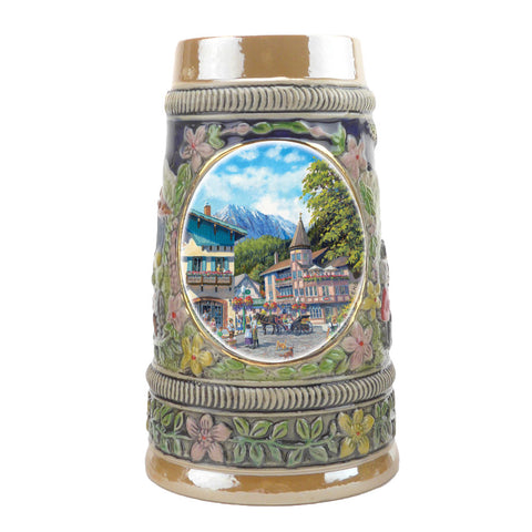 European Summer Ceramic Shot Beer Stein Collectible - ScandinavianGiftOutlet