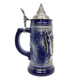 .75L Eagle Metal Medallion Engraved Beer Stein with Metal Lid - ScandinavianGiftOutlet