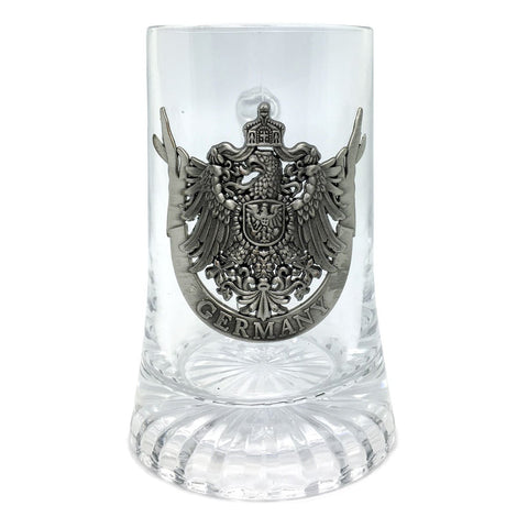 Cool Beer Glass .5L with Deutschland Eagle Medallion - ScandinavianGiftOutlet