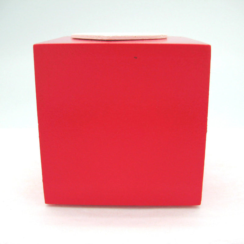 Scandinavian Square Heart Candle Votive Red - ScandinavianGiftOutlet