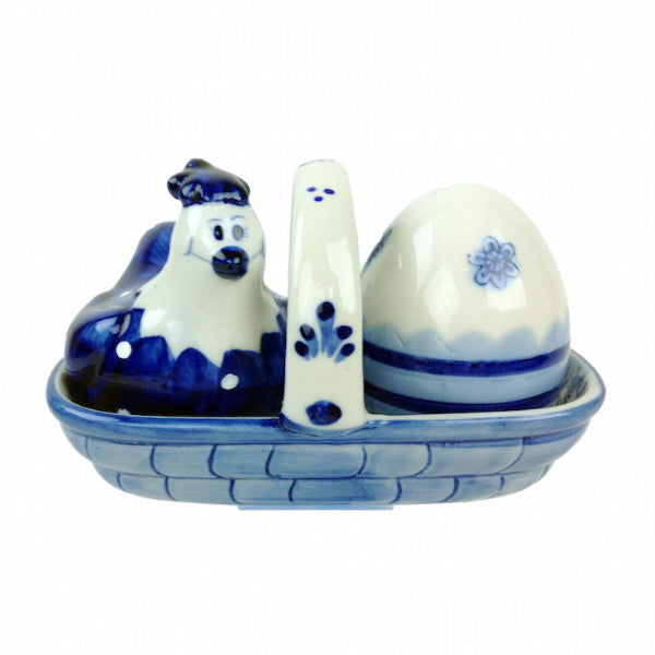 Delft S&P Set Happy Chicken - ScandinavianGiftOutlet