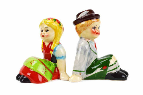 Unique Salt and Pepper Shakers German Couple - ScandinavianGiftOutlet
