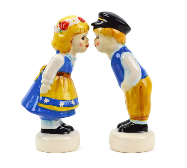 Vintage Salt and Pepper Shakers Swedish Standing Couple - ScandinavianGiftOutlet