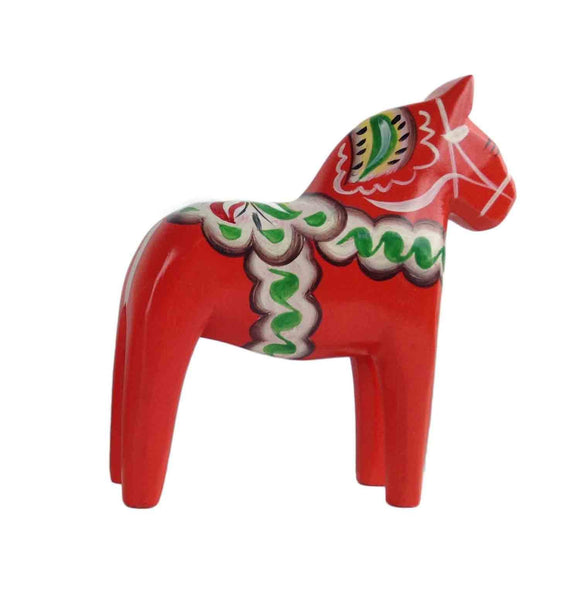 Red Swedish Dalarna Horse Wood Figurine 2.75 inches - Collectibles, CT-150, Dala Horse, Dala Horse Red, Decorations, Figurines, Home & Garden, PS-Party Favors, Swedish, Top-SWED-B