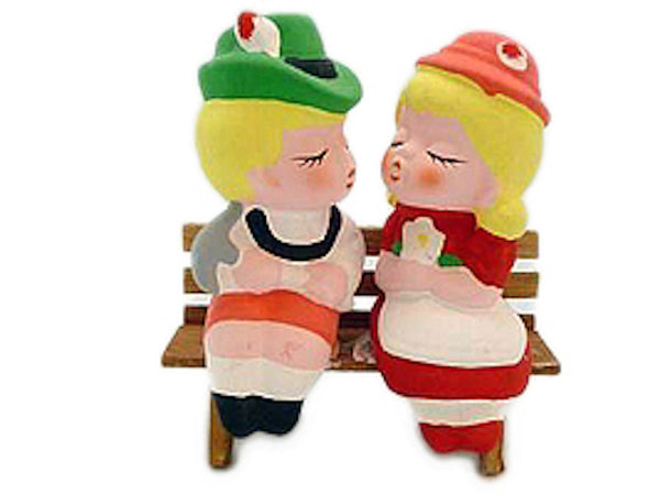 German Wedding Favors Boy/Girl On Bench - ScandinavianGiftOutlet