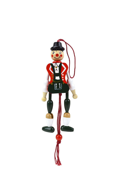 Bavarian Boy Wooden Jumping Jack Toy - ScandinavianGiftOutlet