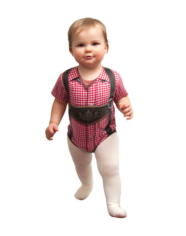 German Costume Realistic Lederhosen Snap Suit - GermanGiftOutlet.com