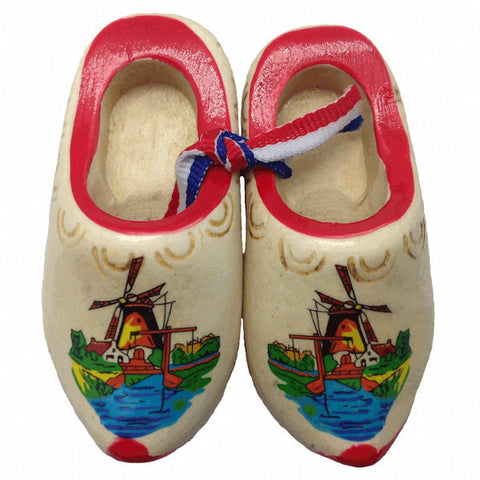 Dutch Shoes Decorated Wooden Clogs - ScandinavianGiftOutlet  - 1