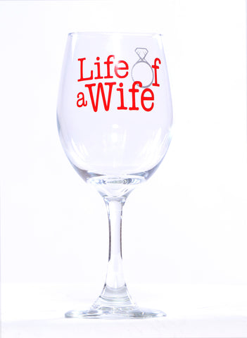 L.O.A.W Logo Wine Glass