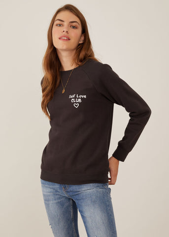 Rocky - Sweatshirt - Self Love Club - Black