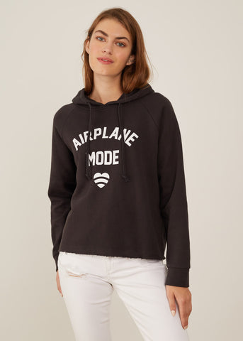 Charlie - Hoodie - Airplane Mode - Black