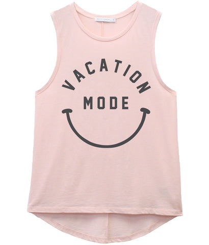 Whitney - Muscle Tee - Vacation Mode - Pink