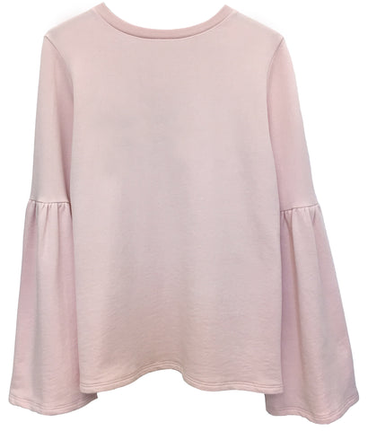 Christy - Bell Sleeve Sweatshirt - Pink