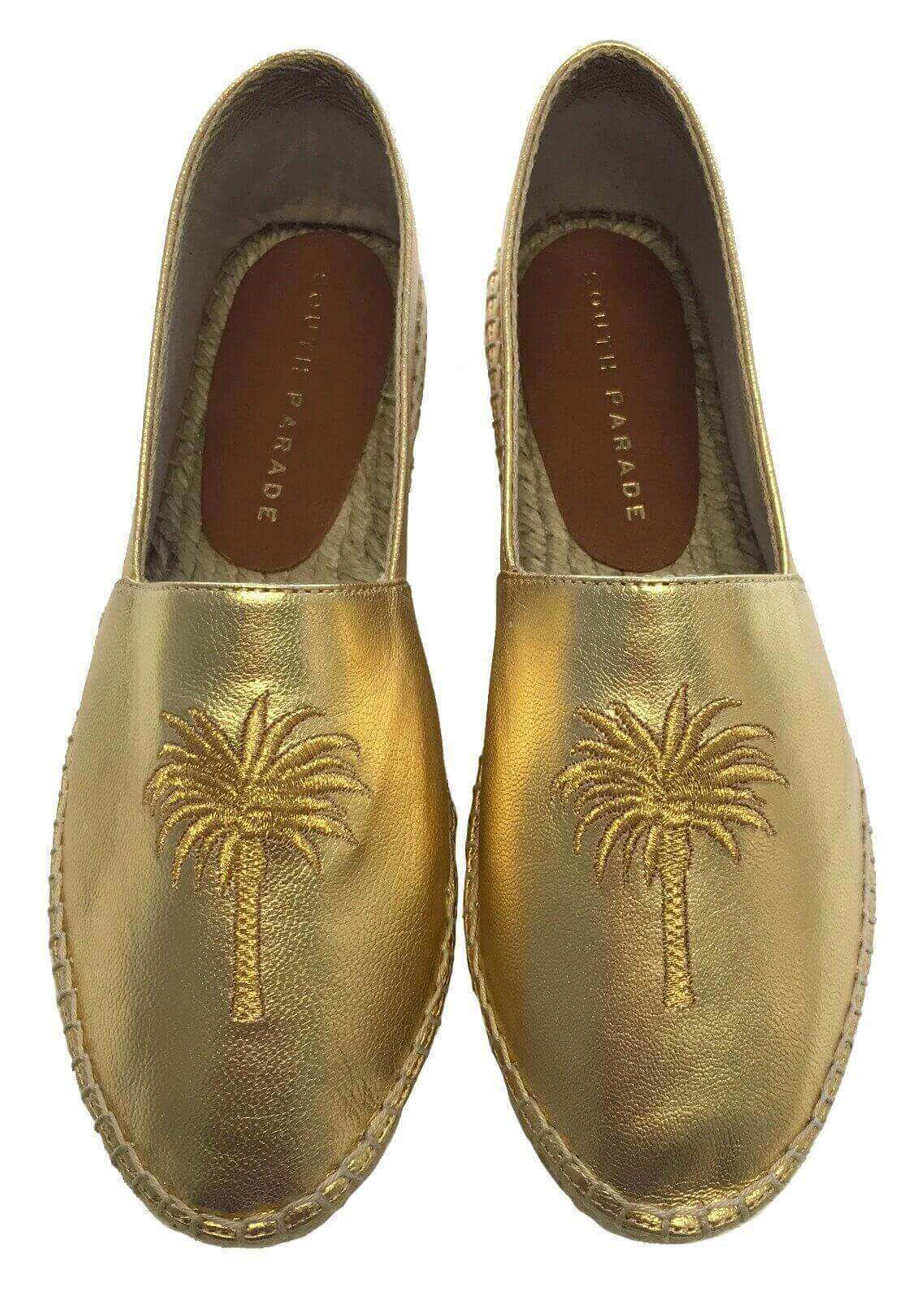 Palm Tree - Gold Espadrille