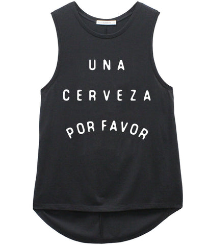 Whitney - Muscle Tee - Cerveza - Black