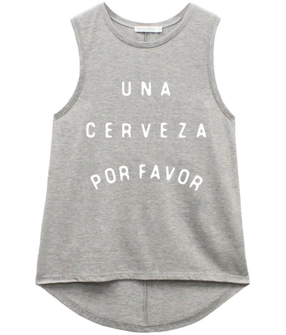Whitney - Muscle Tee - Cerveza - Heather Grey