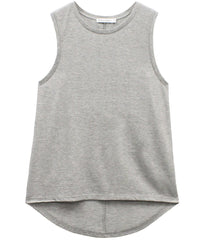 Whitney - Blank Muscle Tee - Heather Gray