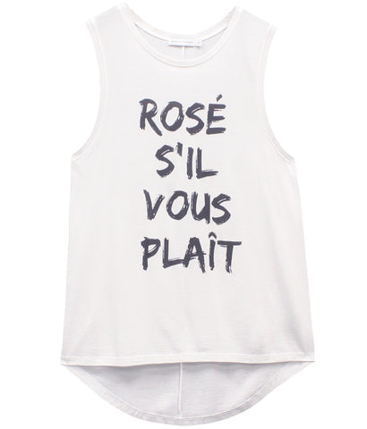 Whitney - Muscle Tee - Rosé S