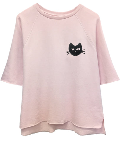 Julie - Short Sleeve Sweatshirt - Kitty