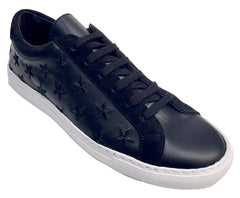 Stars - Lace up Sneaker - Black