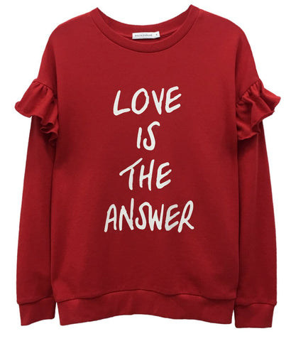 Alexa Ruffles - Boyfriend Sweatshirt - Love is the Answer